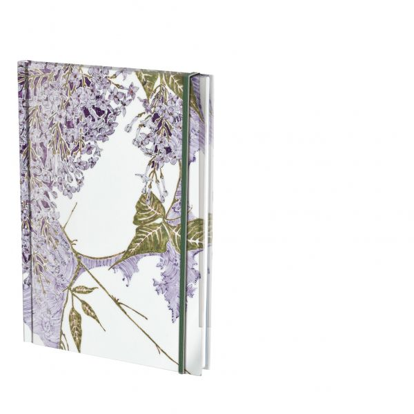 Notebook A6 Decor blauwe sering