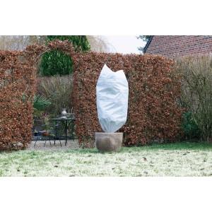 Winterafdekhoes met koord, 50 g/m² - wit