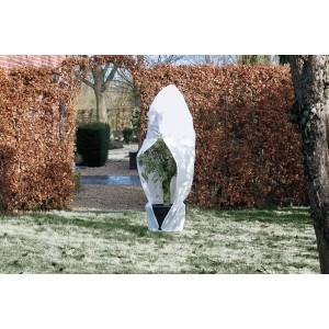 Winterafdekhoes met rits, 70 g/m² - wit
