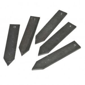 Steeketiketten van leisteen H 15 x 3 cm set à 5 stuks