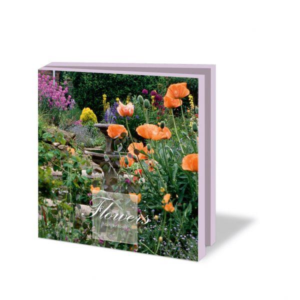 Kaartenmapje Flowers donkerroze