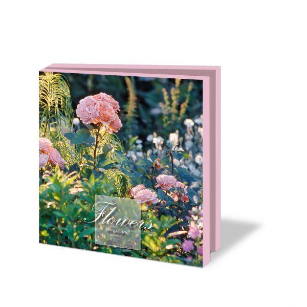 Kaartenmapje Flowers lichtroze