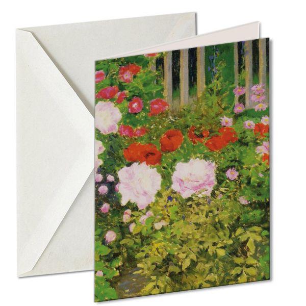 Museumkaart 'A rose hedge'