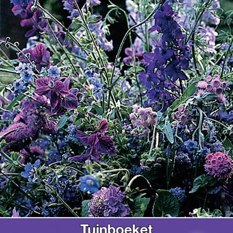 Tuinboeket, plukmengsel in blauw