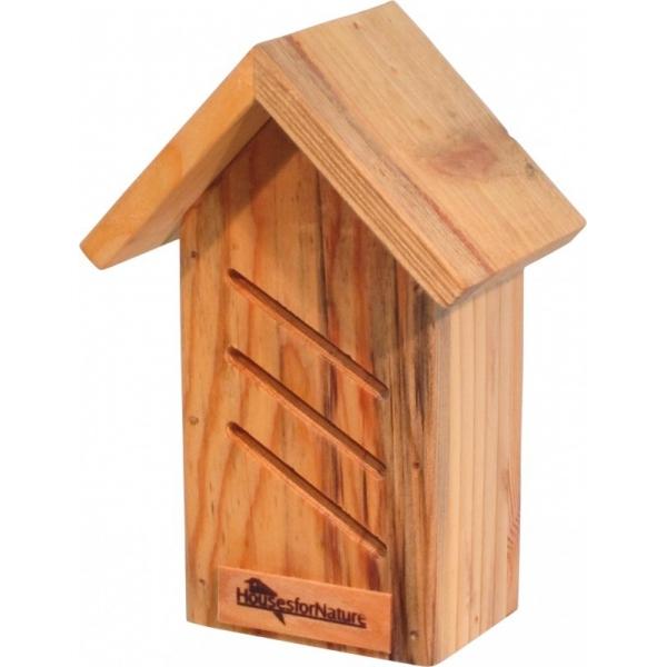 Huisje voor lieveheersbeestjes diagonaal, gerecycled hout