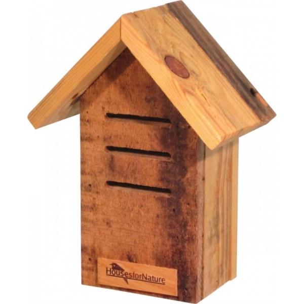 Huisje voor lieveheersbeestjes recht, gerecycled hout