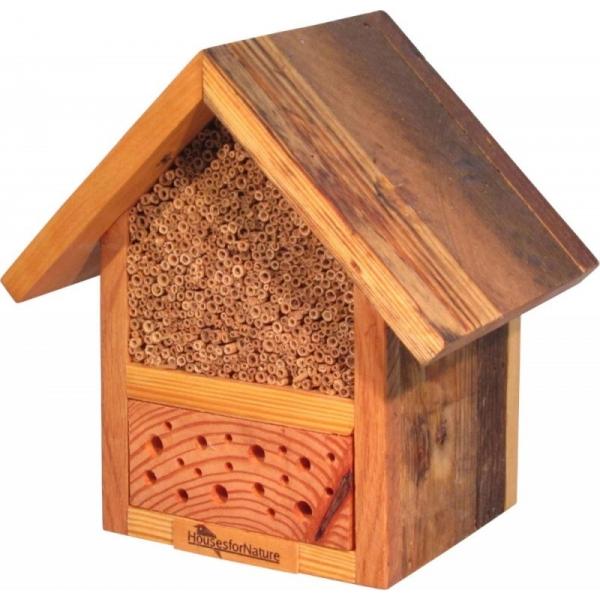 Insectenhotel voor bijen, gerecycled hout