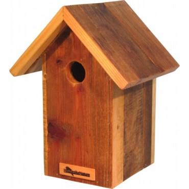 Nestkast, Ø 28 mm, gerecycled hout