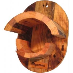 Pindakaaspothouder Speciaal, gerecycled hout