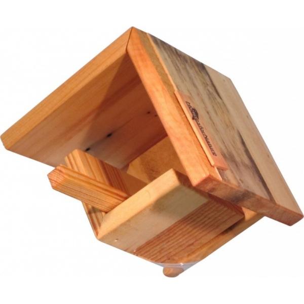 Pindakaaspothouder, gerecycled hout