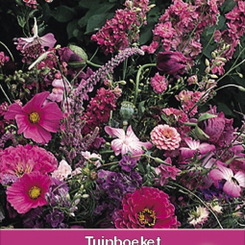 Tuinboeket in roze