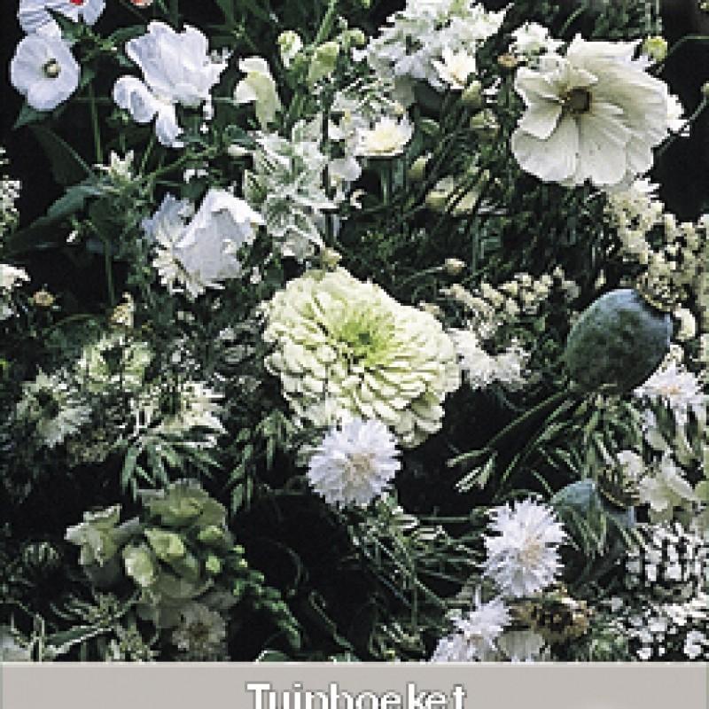 Tuinboeket in wit en groen