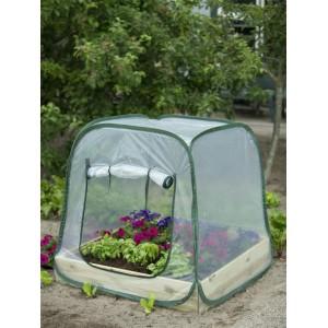 Pop-up kas voor een vierkante-meter-tuin