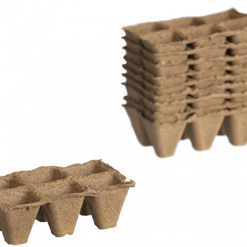 Turfpotten vierkant, tray
