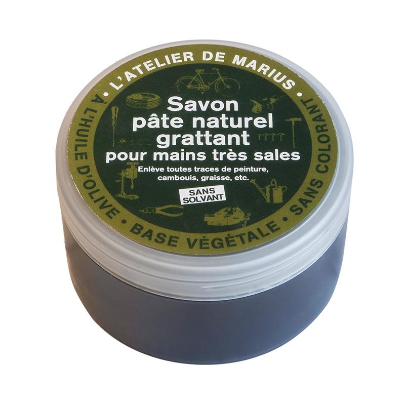 Zwarte zeepscrub met gemalen olijfpitten 200 ml